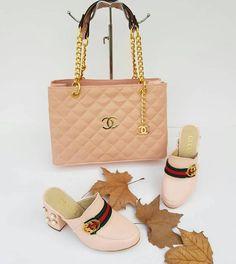 Gucci & Chanel 2451 - Çanta, Topuklu Terlik Kombin