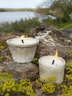 Vintage Outdoor Candle Pots, enjoy your garden after dark!