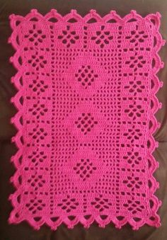Pink Lace Flower Scarf - Handmade Filet Crochet Scarf - Pink Lace Scarf - Shabby Chic Flowers - Dresser Scarf or Flower Table Runner Filet Crochet, Crochet Chart, Thread Crochet, Crochet Table Topper, Crochet Table Runner, Doily Rug, Crochet Doilies, Unique Crochet, Vintage Crochet
