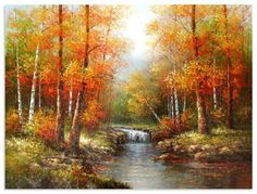 bob ross painting at DuckDuckGo Pinturas Bob Ross, The Joy Of Painting, Autumn Painting, Easy Landscape Paintings, Landscape Art, Oil Painting Pictures, Pictures To Paint, Beautiful Paintings, Beautiful Landscapes