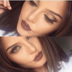 Makeup ideas for brown lips