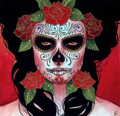 I want to get my makeup done like this on day of the dead