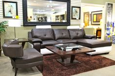 Elkin Black & White Sectional - Colleen's Classic Consignment, Las Vegas, NV - www.cccfurnishings.com