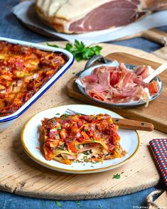 Lasagnes maison au jambon Serrano, ricotta et épinards #MaisonLoste Pasta, Ricotta, Hawaiian Pizza, Tacos, Cooking, Ethnic Recipes, Desserts, Food, Ainsi
