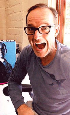 Clark Gregg with Agent Coulson Action Figure - Clark Gregg Fan Art - Fanpop Roman, Clark Gregg, Avengers Cast, Phil Coulson, Nick Fury, Agents Of Shield, Greggs, Bucky Barnes, S Word
