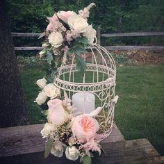 wonderful centerpiece idea for summer garden wedding
