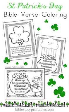 Patrick's Day Bible Verse Coloring Pages - Christian St. Patrick's Day Coloring Pages Christian St. Patrick's Day Coloring Pages Christian - March Crafts, St Patrick's Day Crafts, Sunday School Crafts, Christian Preschool, Christian Crafts, Bible Verse Coloring Page, Coloring Pages, St Patricks Day Crafts For Kids, St Patrick Day Activities