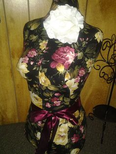 Cottage Rose Dress Form jewelry display with by reminiscejewels