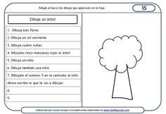Paquete de 15 fichas de comprensión de instrucciones escritas para niños, que se…