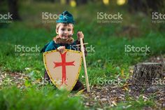 Cute Little Knight royalty-free stock photo