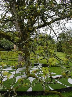 Scotland's Incredible Garden of Cosmic Speculation, Portrack House, near Dumfries in South West Scotland.  By architect and theorist Charles Jencks.