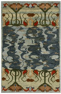 'Water Lilies' rug by textile designer Bahram Shabahang for Orley Shabahang. via new focus on