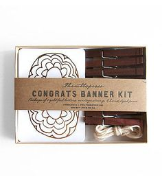 Diy banner kit spotlight spotlight and banners infants thimblepress congrats letterpress diy banner kit solutioingenieria Image collections