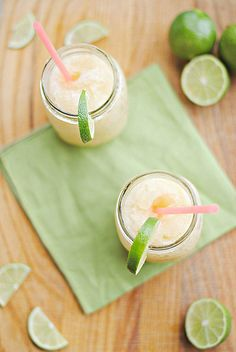 Skinny beer-garitas! make your own limeade with limes, Splenda sugar and water…voila!  Add tequila and beer. Saves about 100 calories per serving
