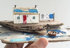 Using up even the smallest bits of ply! #driftwood #miniature #coast #cottage…