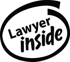"""Lawyer Inside"" logo decal"
