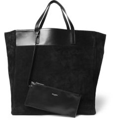 Saint Laurent Reversible Suede and Leather Tote Bag | MR PORTER