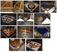 Superman House of El Shield dart board cabinet. Custom designed and built by Bryce Buchanan.