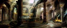 ArtStation - King Arthur - set concepts, Kieran Belshaw