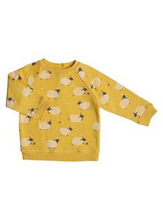 John Lewis Baby Sheep Jumper, Yellow at ...