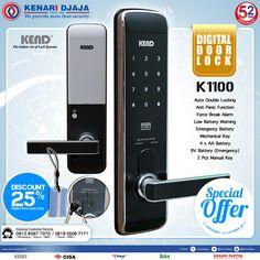 Ayo Segera Dapatkan Digital Door Lock K1100 Di Kenari Djaja Dengan Harga Istimewa.. Handle Kunci Praktis Dan Aman Yang Dapat Diakses Dengan Pin, RFID Card Dan Manual Key ... Promo ini Hanya Sampai Dengan 31 Oktober 2017.  Informasi Hub. : Ibu Tika 0812 8567 7070 ( WA / Telpon / SMS ) 0819 0506 7171 ( Telpon / SMS )  Email : digitalmarketing@kenaridjaja.co.id  [ K E N A R I D J A J A ] PELOPOR PERLENGKAPAN PINTU DAN JENDELA SEJAK TAHUN 1965