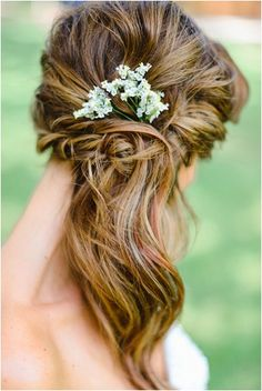 Bridal Hairstyle | Wedding Hairstyle | by Rustic White Photography