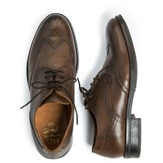 MANGO Brogueing leather blucher ($70) found on Polyvore