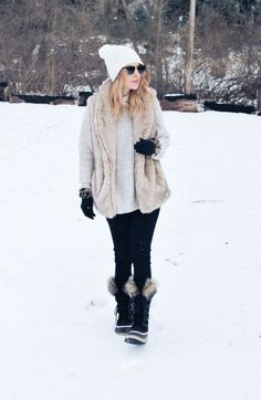 Fur Vest | Winter Looks | Stay Warm | Snow Outfit | Fur Fashion | Fur Layered