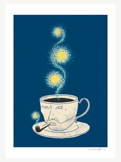 I didn't know Vincent loved coffee!  But, come to think of it,  he cut off his ear in in a caffeine frenzy.