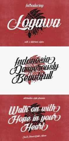 Logawa Script Font - Free Download