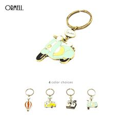 ORMELL Cute Animal Cartoon Fire Balloon Car Camera Punk Key Chains For Men And Women #Jewelry #Gifts #cartoonkeychains