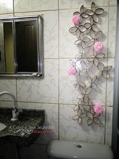 Image result for arte parede rolos de papel higienico