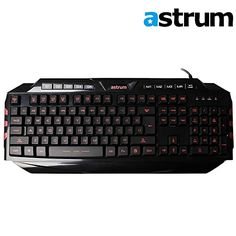Astrum Elete Stealth LED Backlit USB Multimedia Gaming Keyboard Black with Red Light Edition *** Check out this great product.