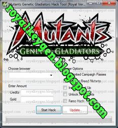 Royal Keygens: Mutants Genetic Gladiators Hack Tool, Cheats and Tips [FREE Download] [No Survey] [2013]