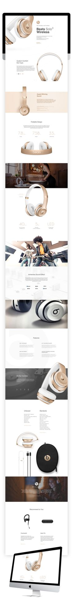 查看《beats solo3 产品站》原图,原图尺寸:900x7475 Design Sites, Page Design, Design Trends, Banner Design Inspiration, Website Design Inspiration, Web Layout, Layout Design, Webdesign Inspiration, Newsletter Design