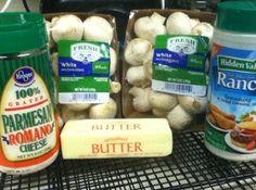 Parmesan Ranch Mushrooms (slow cooker recipe)