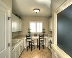 LAUNDRY ROOM – Another great design idea for a well-functioning laundry room. Traditional Laundry Room Design, Pictures, Remodel, Decor and Ideas. Laundry Craft Rooms, Laundry Room Design, Room Interior, Interior Design Living Room, Interior Decorating, Craft Room Design, Sewing Rooms, Trendy Home, Mudroom