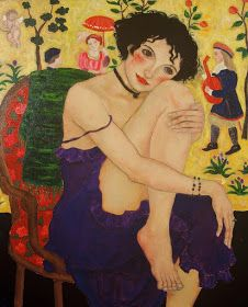 Blog of an Art Admirer: Women in Painting by Xi Pan Chinese Artist