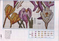 Cross stitch - fairies: Crocus fairy - Cicely Mary Barker - close-up segment (chart - part B)