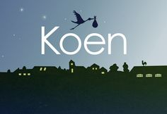 Birth announcement front for Koen