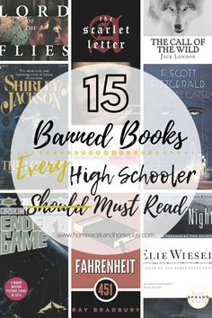 15 Banned Books Every High Schooler Must Read by H&H