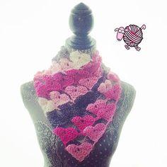 Crochet Love Triangle Shawl By Dearest Debi - Free Crochet Pattern - (ravelry)