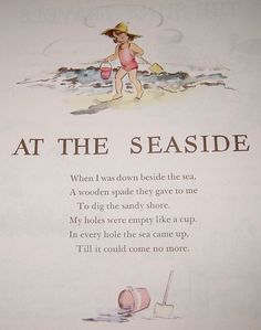 At the Seaside, a poem from A Child's Garden of Verses by Robert Louis Stevenson.