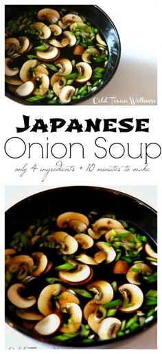 With only 4 ingredients and just 10 minutes to make, this Japanese Onion Soup Recipe will fit a myriad of soup needs for you and your family. If you are having a sick day, or need a fast healthy weeknight dinner, or an easy detox soup? This soup will make your tummy happy!