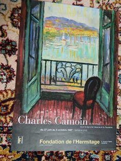 french poster. AFFICHE exposition Charles CAMOIN 1997