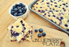 Blueberry Platz - Easy and delicious German dessert.  Better than muffins!
