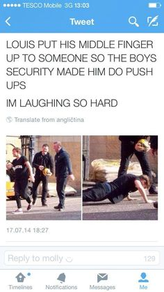 Oh god it's just like band when I do something bad or talk or anything we used to have to do push ups or laps