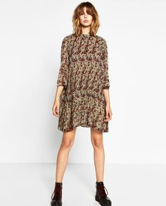 ZARA - WOMAN - FINELY PLEATED AND PRINTED DRESS