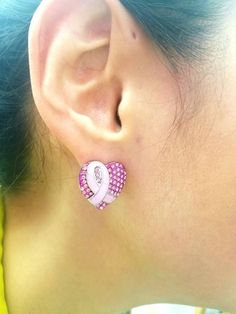 Fashion Jewelry, Trendy Jewelry, Pink Ribbon, Breast Cancer Awareness, Stud Earrings