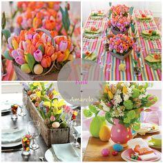 Easter, deco, table, mesa, decoração, Páscoa, coelho, bunny, party, vida de pimenta, laranja, ideas, orange, pink
